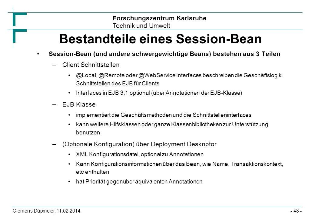 Bestandteile eines Session-Bean
