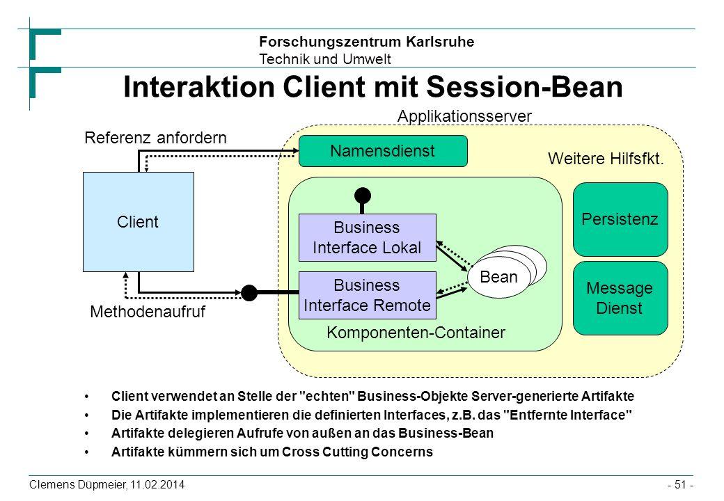 Interaktion Client mit Session-Bean