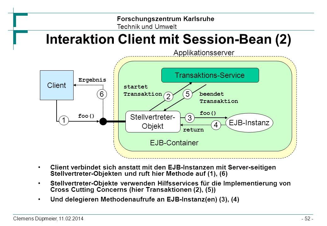 Interaktion Client mit Session-Bean (2)