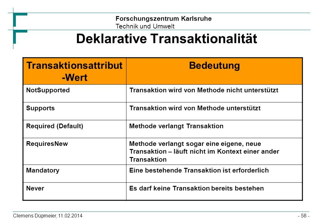 Deklarative Transaktionalität