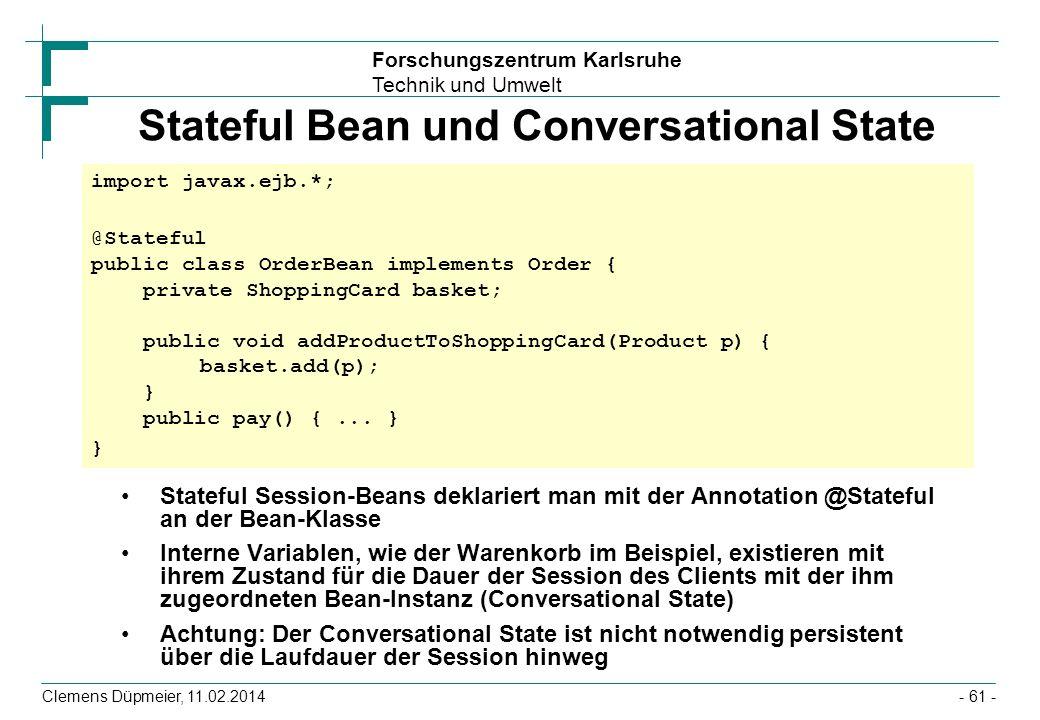 Stateful Bean und Conversational State