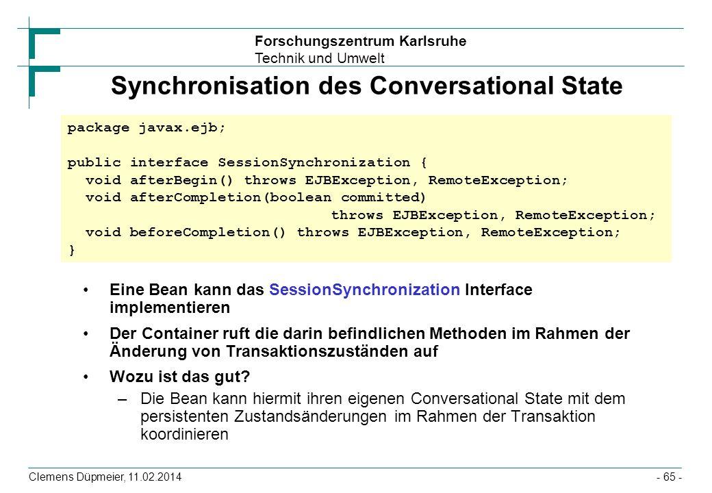 Synchronisation des Conversational State
