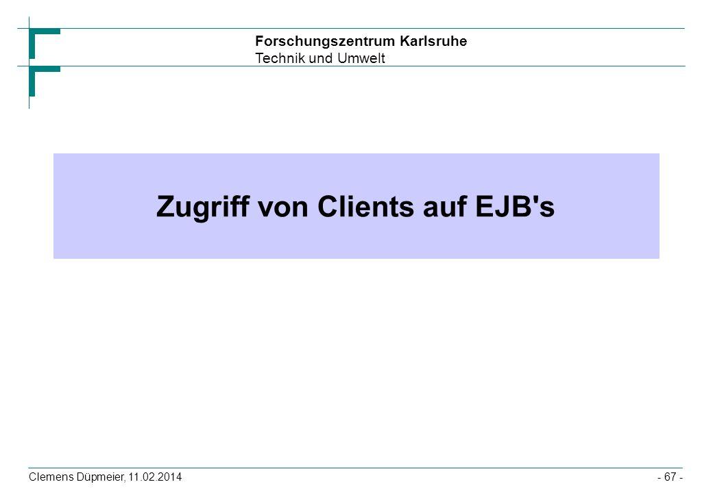 Zugriff von Clients auf EJB s