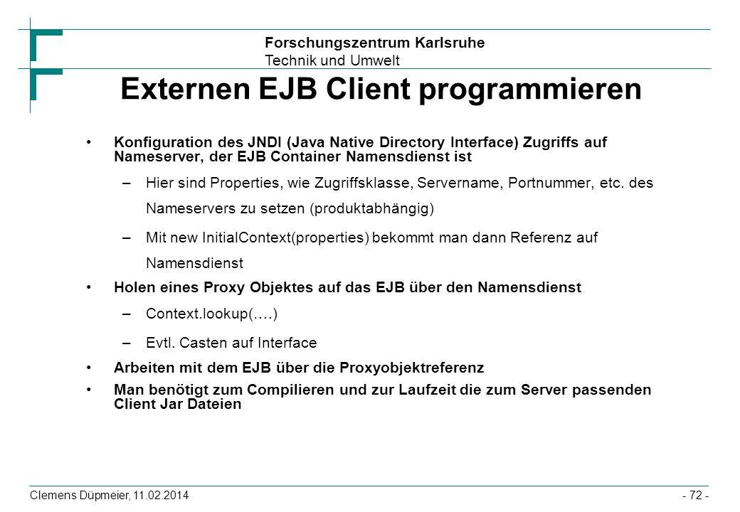 Externen EJB Client programmieren