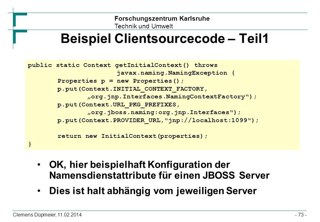 Beispiel Clientsourcecode – Teil1