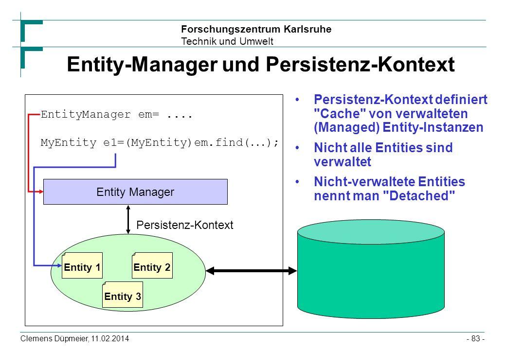 Entity-Manager und Persistenz-Kontext