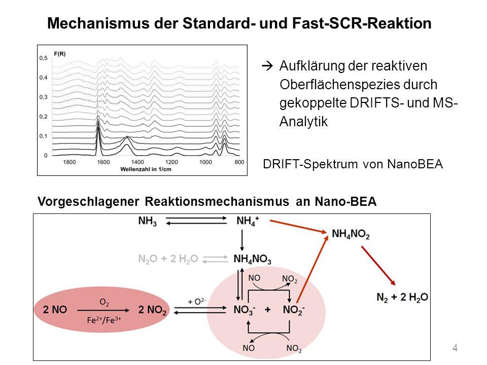 Mechanismus der Standard- und Fast-SCR-Reaktion
