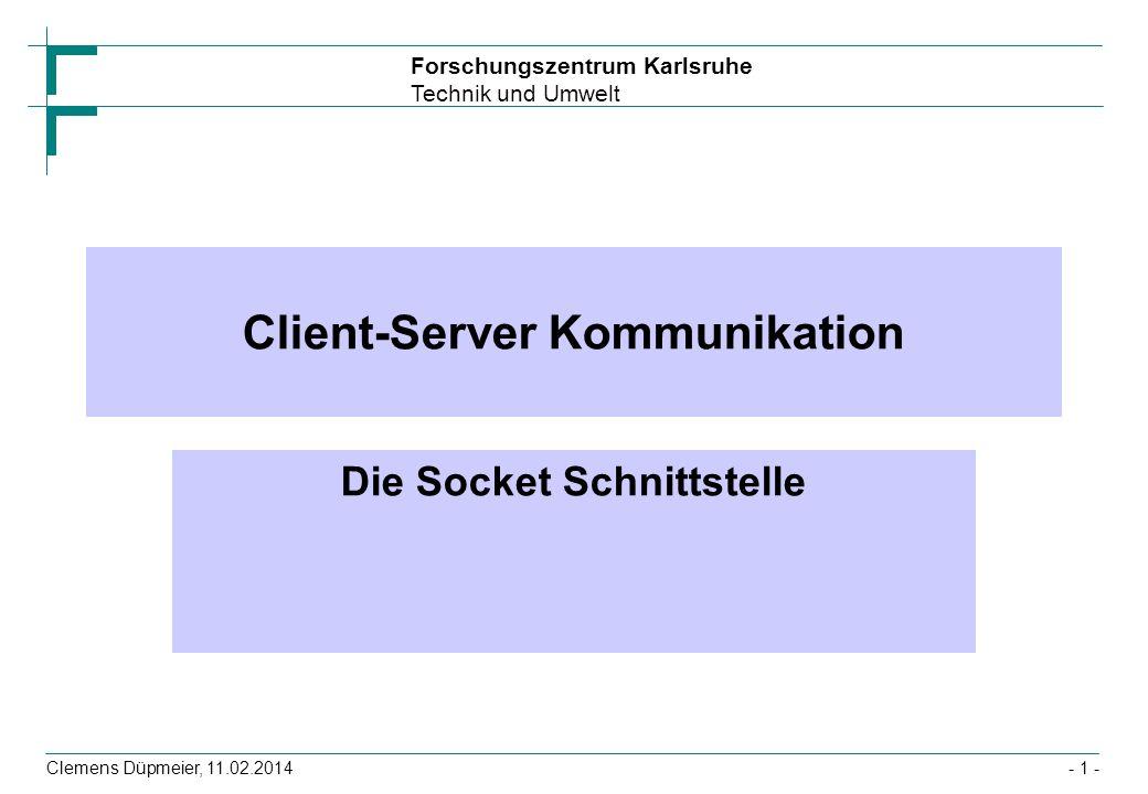 Client-Server Kommunikation