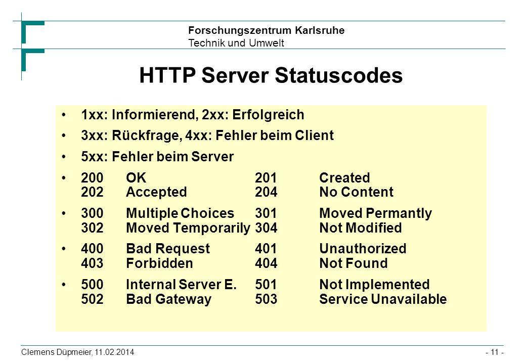 HTTP Server Statuscodes
