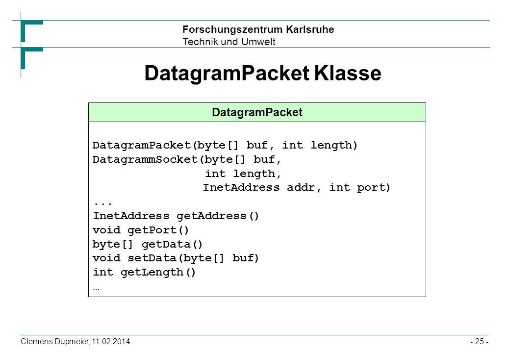 DatagramPacket Klasse