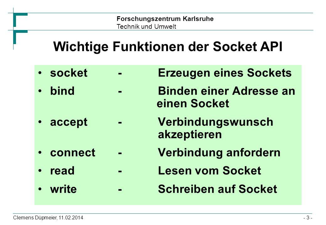 Wichtige Funktionen der Socket API