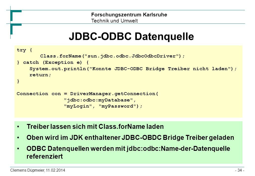JDBC-ODBC Datenquelle