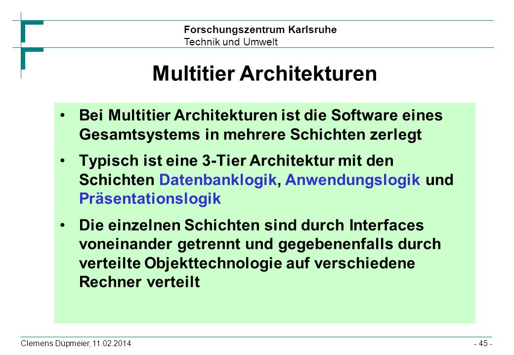 Multitier Architekturen