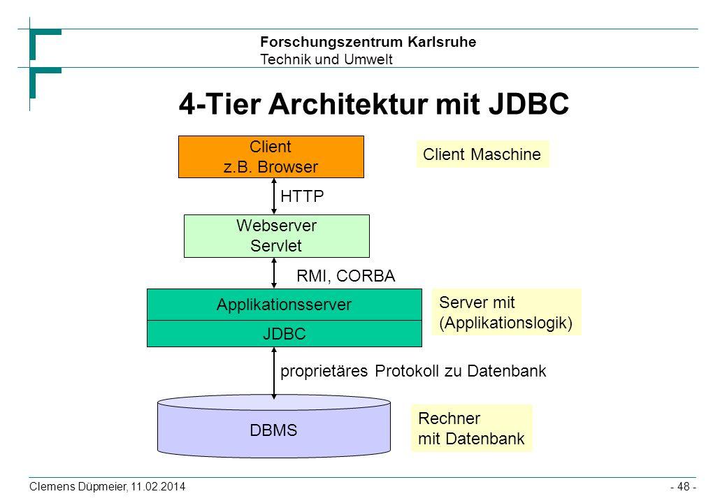 4-Tier Architektur mit JDBC