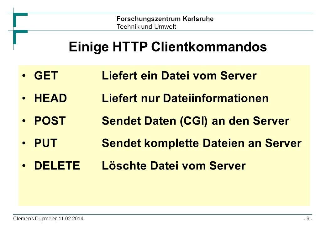 Einige HTTP Clientkommandos