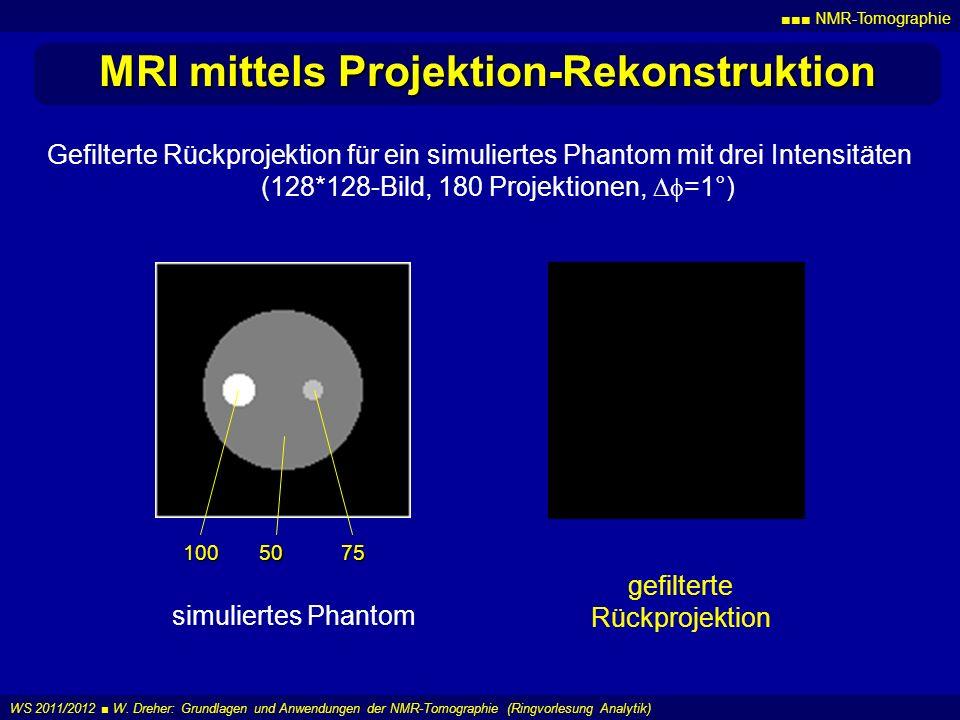 MRI mittels Projektion-Rekonstruktion