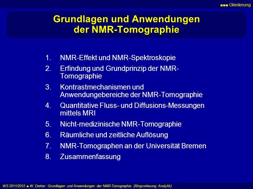 Grundlagen und Anwendungen der NMR-Tomographie