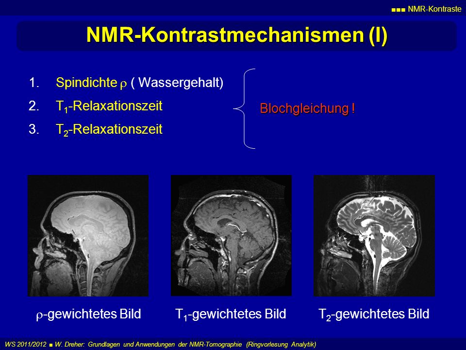 NMR-Kontrastmechanismen (I)