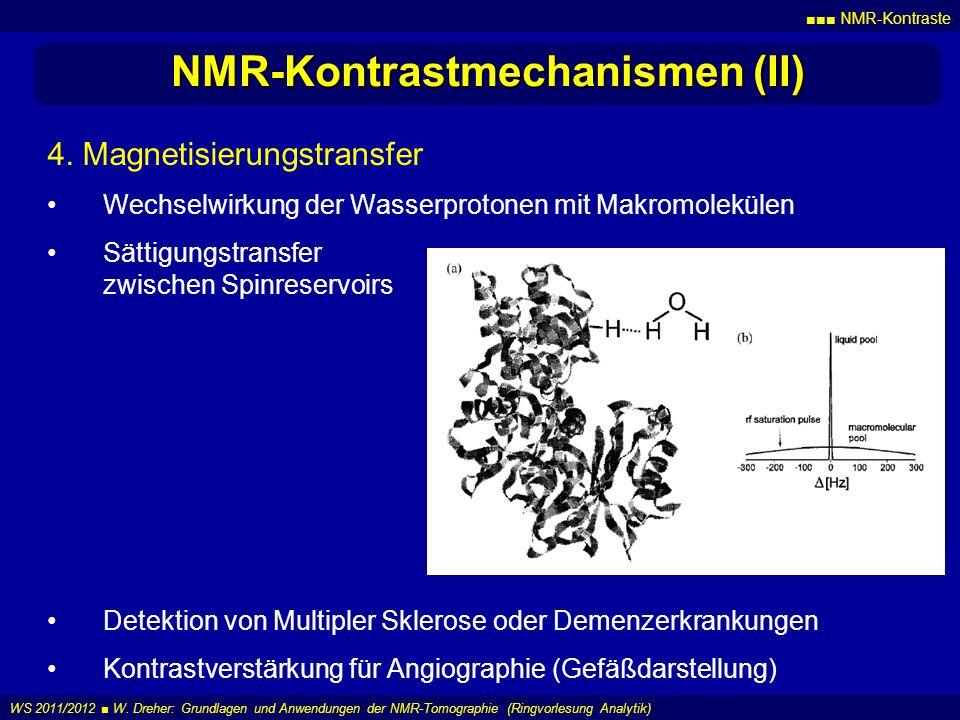 NMR-Kontrastmechanismen (II)