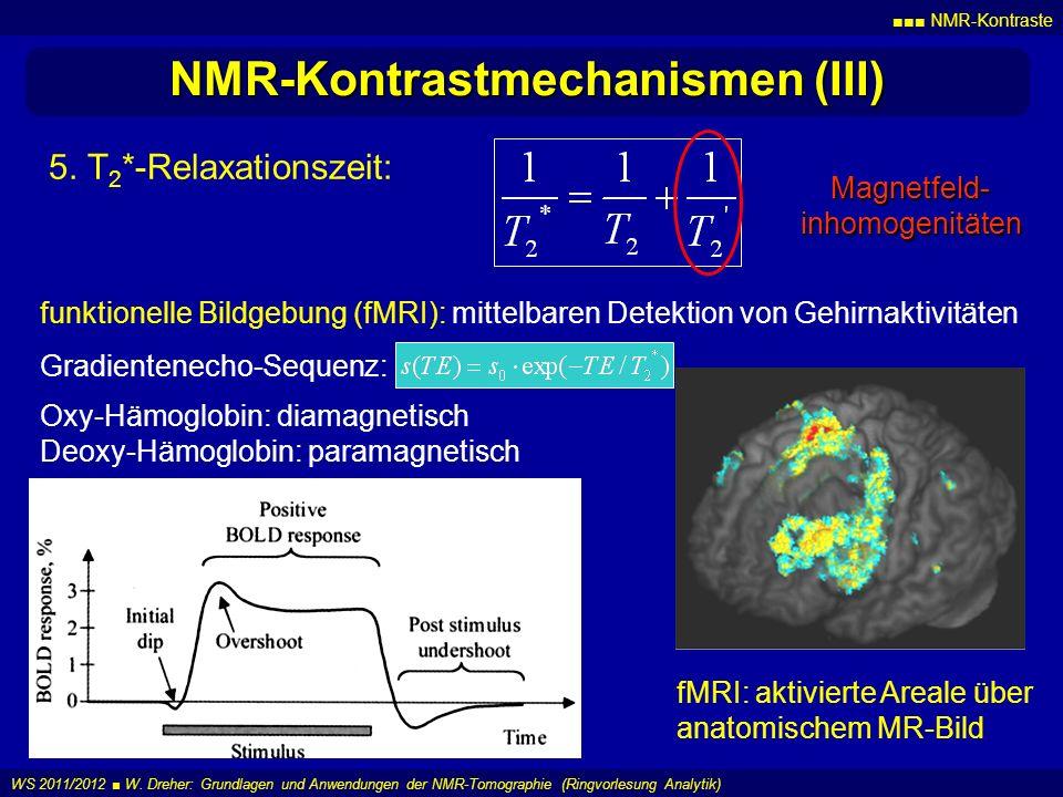 NMR-Kontrastmechanismen (III)