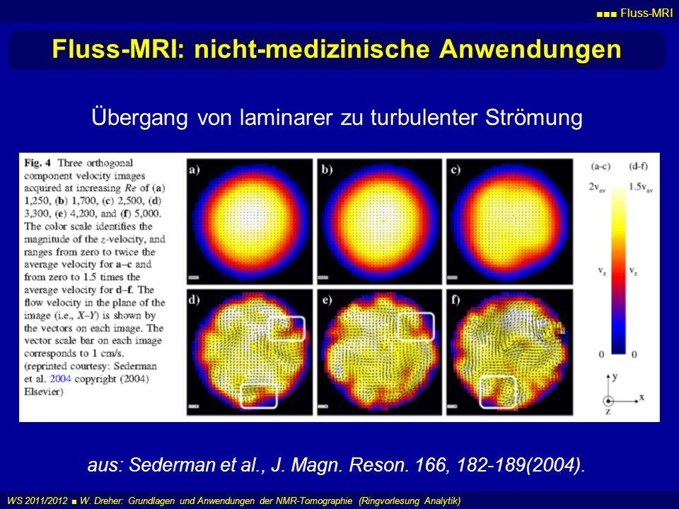 Fluss-MRI: nicht-medizinische Anwendungen