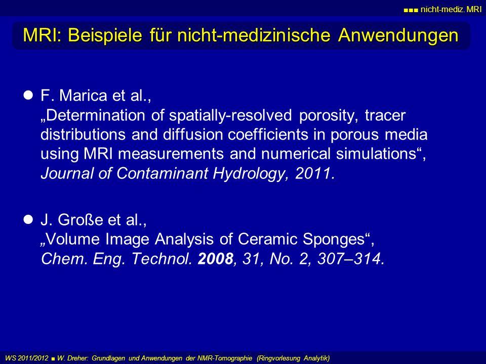 MRI: Beispiele für nicht-medizinische Anwendungen