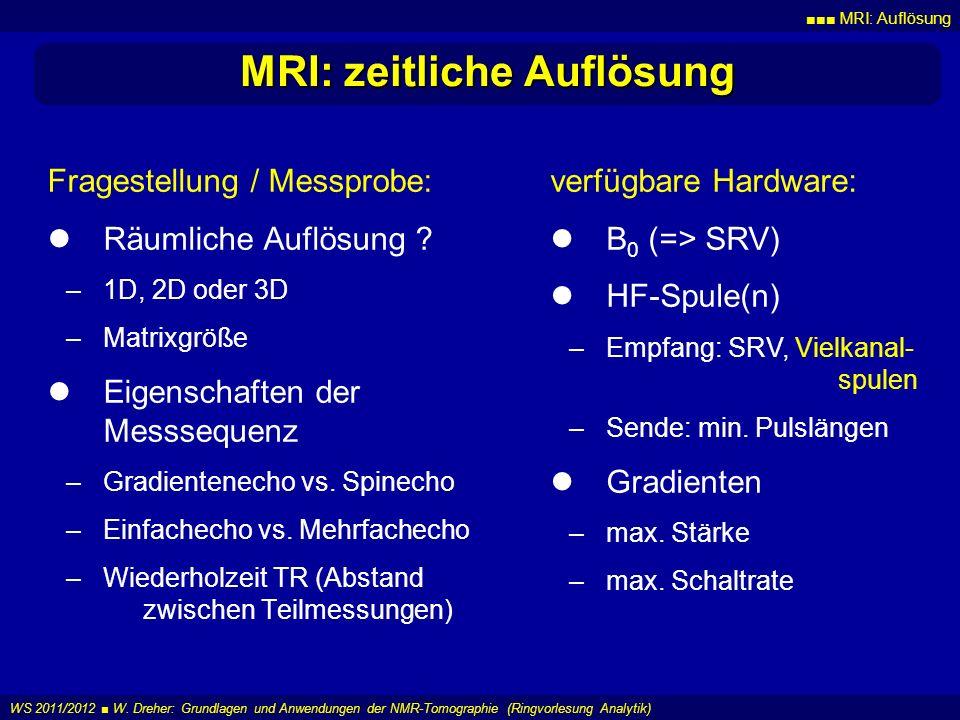 MRI: zeitliche Auflösung
