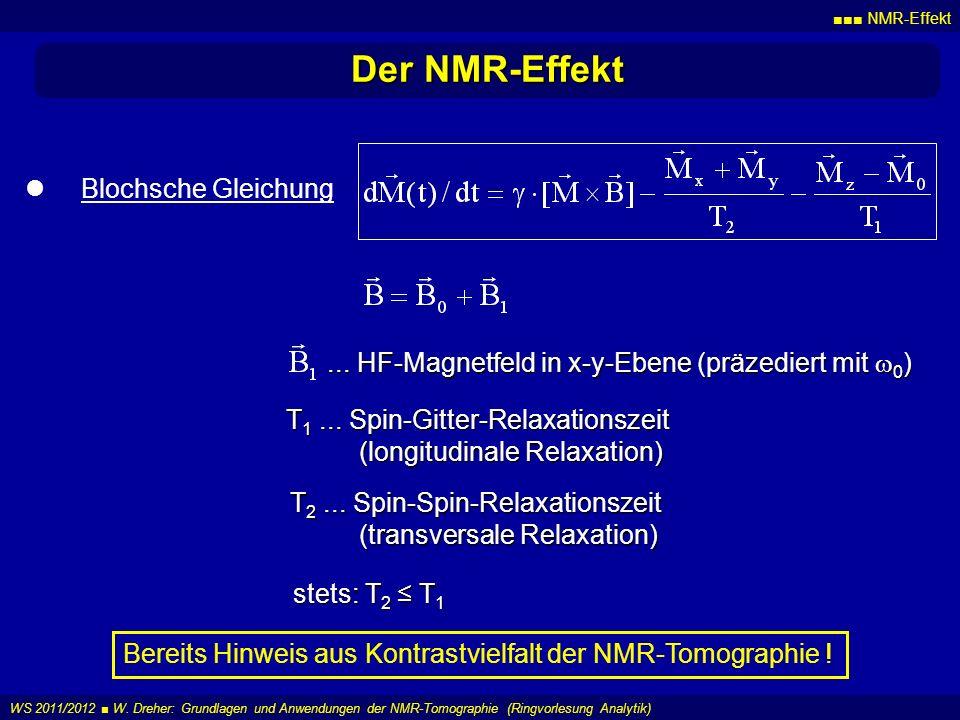 Der NMR-Effekt Blochsche Gleichung
