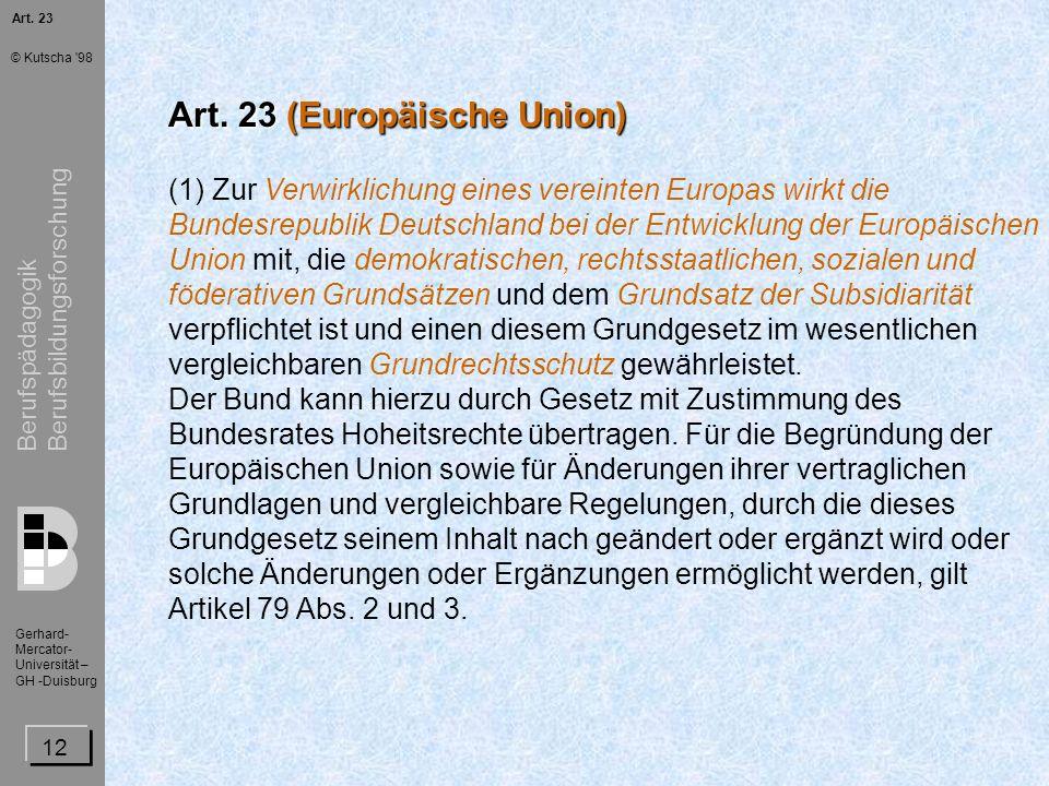 Art. 23 (Europäische Union)