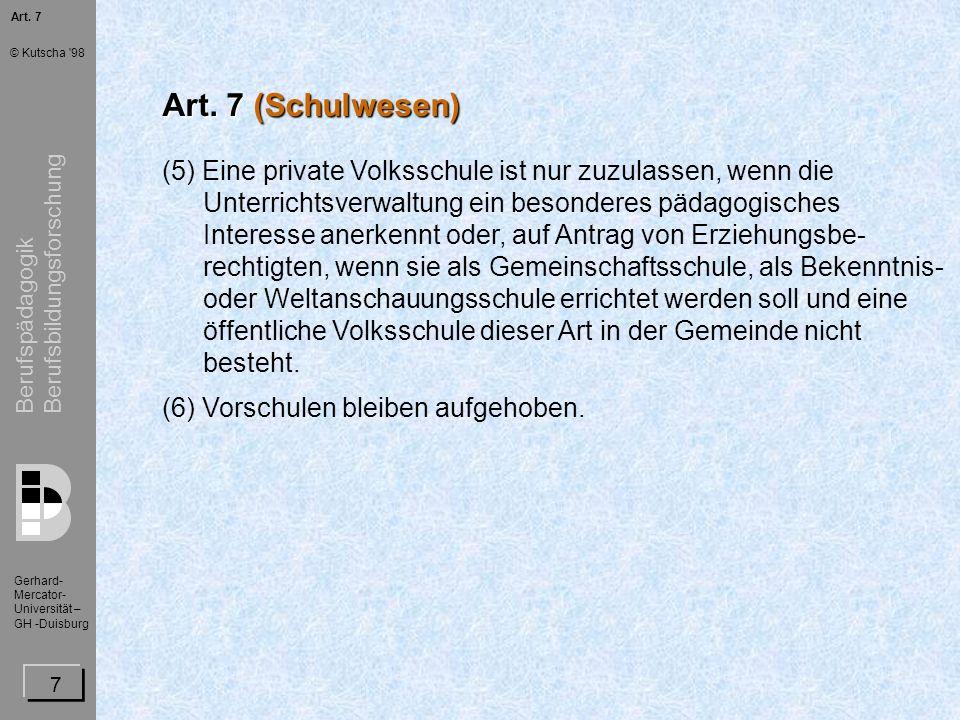 Art. 7Art. 7 (Schulwesen)