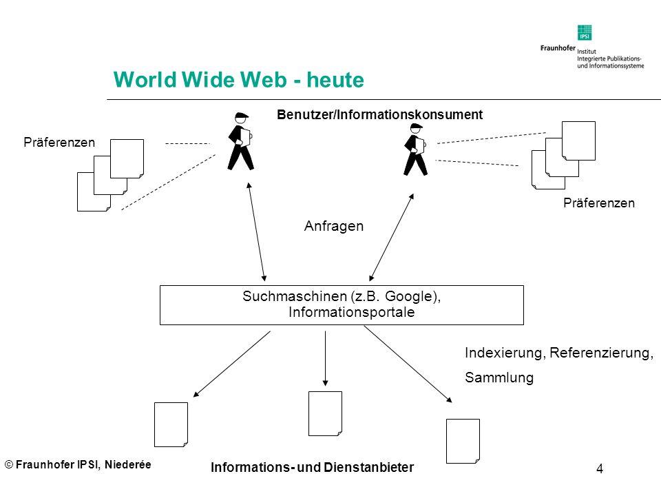 Suchmaschinen (z.B. Google), Informationsportale