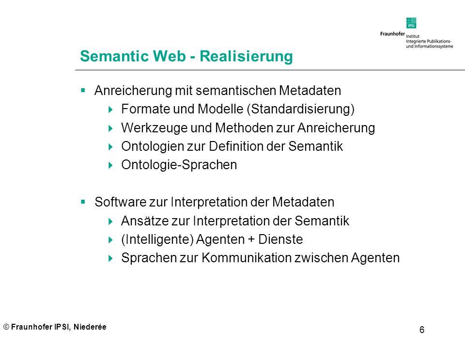 Semantic Web - Realisierung