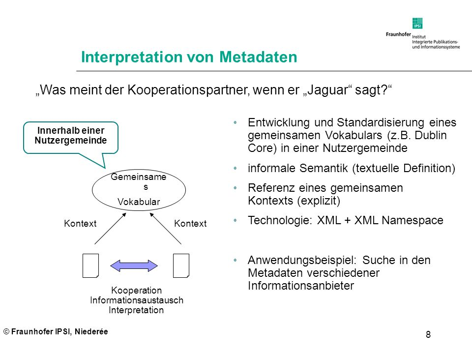 Interpretation von Metadaten
