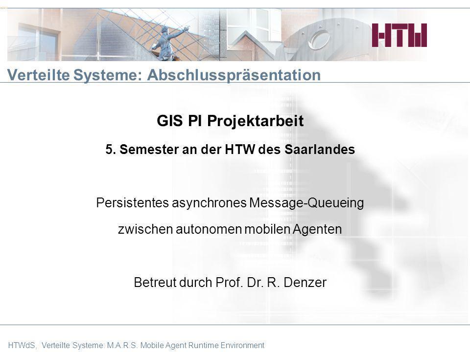 HTW Verteilte Systeme: Abschlusspräsentation
