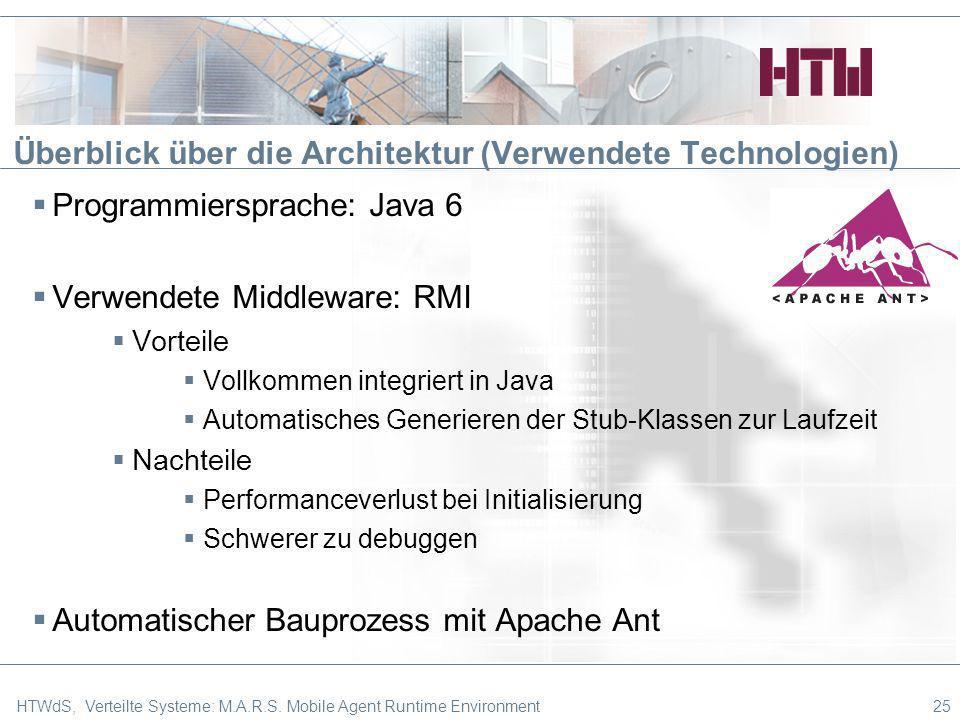 Überblick über die Architektur (Verwendete Technologien)