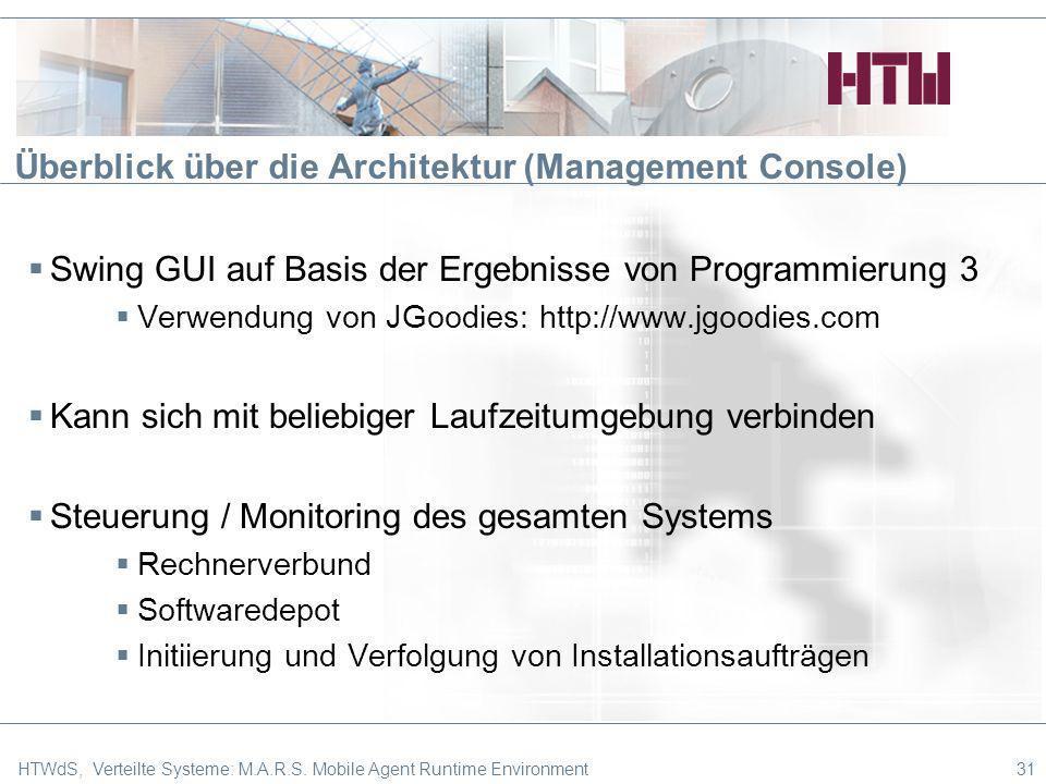 Überblick über die Architektur (Management Console)