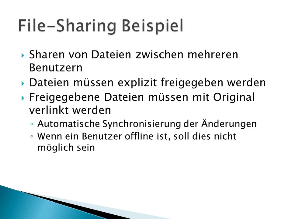 File-Sharing Beispiel