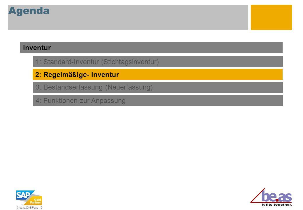 Agenda Inventur 1: Standard-Inventur (Stichtagsinventur)