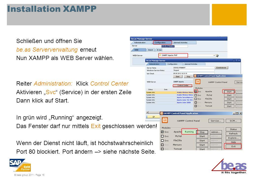Installation XAMPP