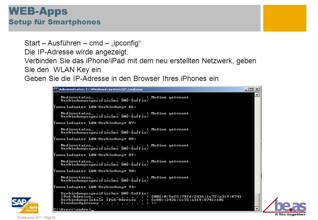 WEB-Apps Setup für Smartphones