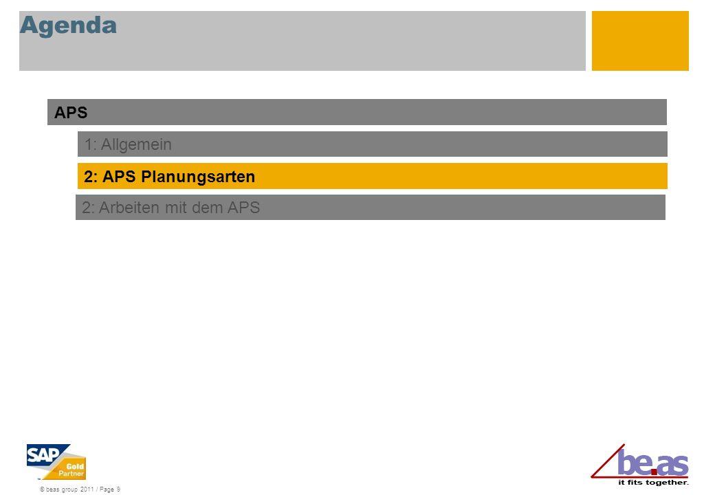 Agenda APS 1: Allgemein 2: APS Planungsarten 2: Arbeiten mit dem APS