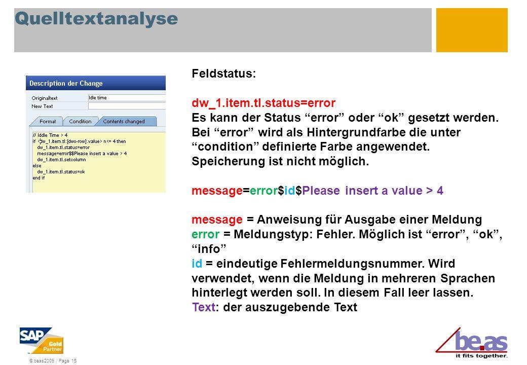 Quelltextanalyse Feldstatus: dw_1.item.tl.status=error
