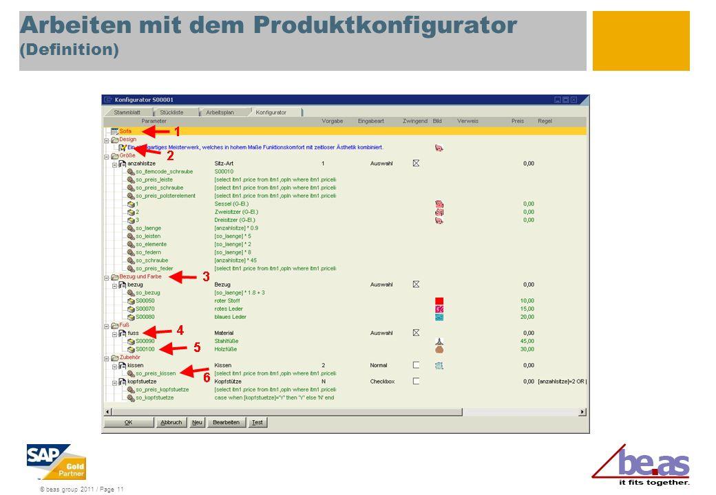 Arbeiten mit dem Produktkonfigurator (Definition)