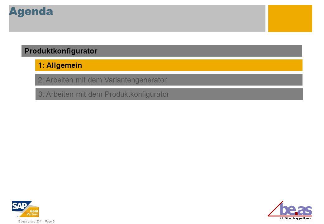 Agenda Produktkonfigurator 1: Allgemein