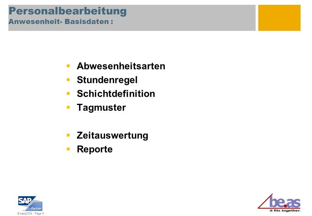 Personalbearbeitung Anwesenheit- Basisdaten :