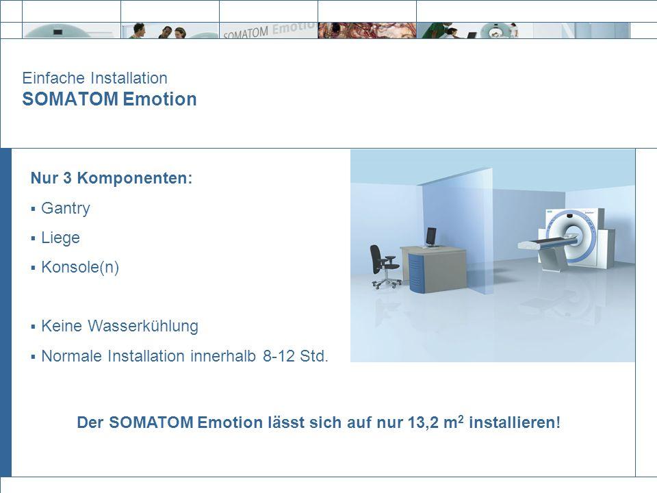 Einfache Installation SOMATOM Emotion