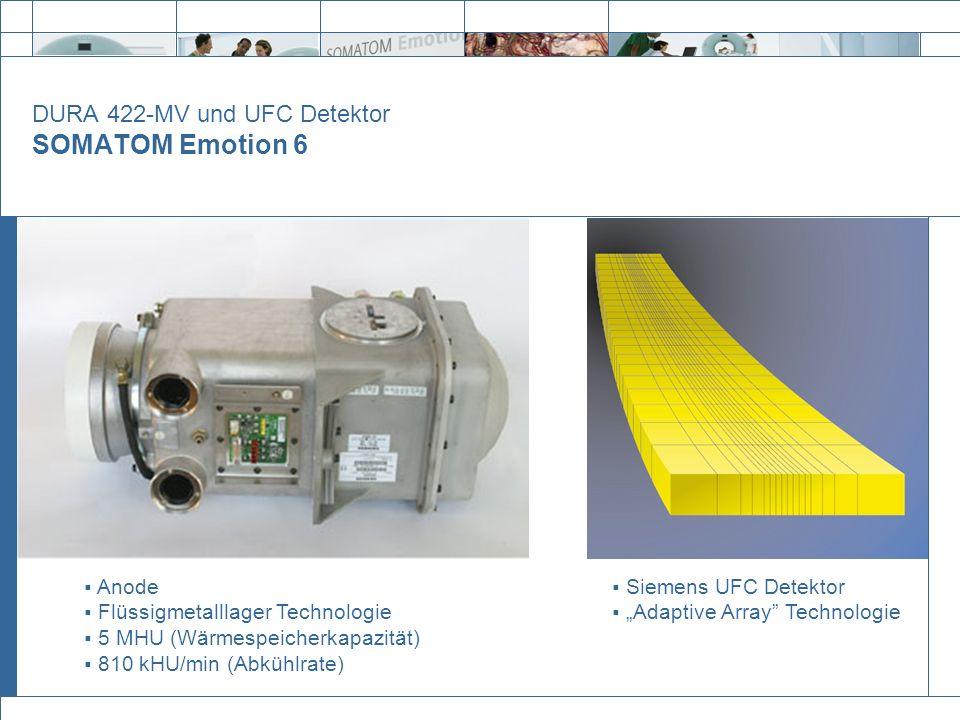 DURA 422-MV und UFC Detektor SOMATOM Emotion 6