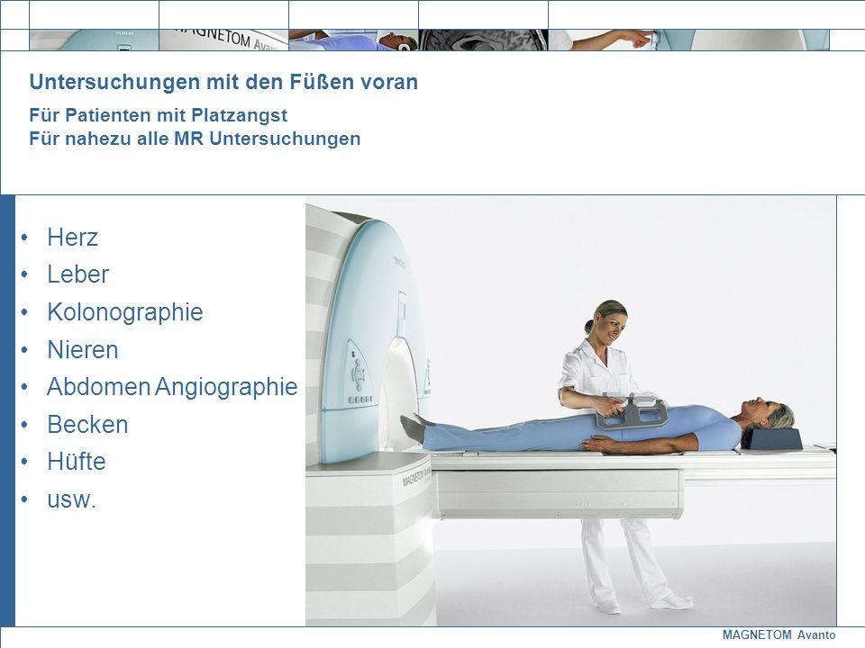 Herz Leber Kolonographie Nieren Abdomen Angiographie Becken Hüfte usw.