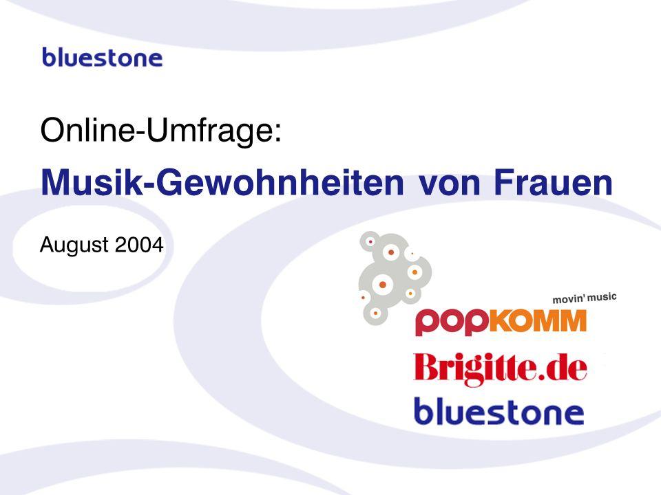 Online-Umfrage: Musik-Gewohnheiten von Frauen August 2004