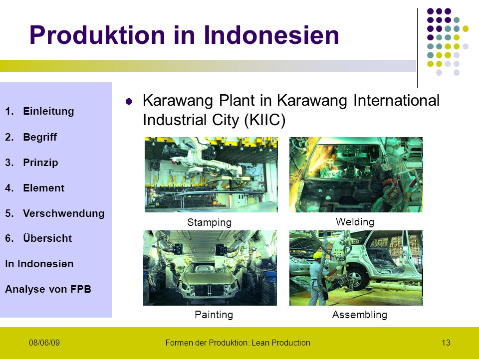 Produktion in Indonesien